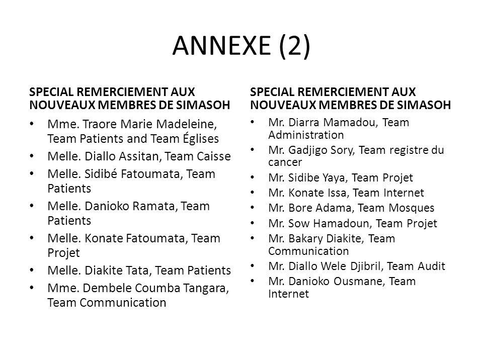 ANNEXE (2) SPECIAL REMERCIEMENT AUX NOUVEAUX MEMBRES DE SIMASOH