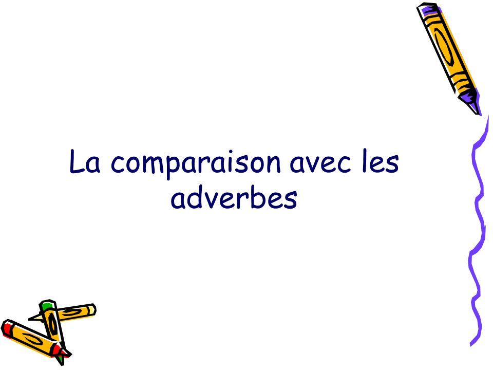 La comparaison avec les adverbes
