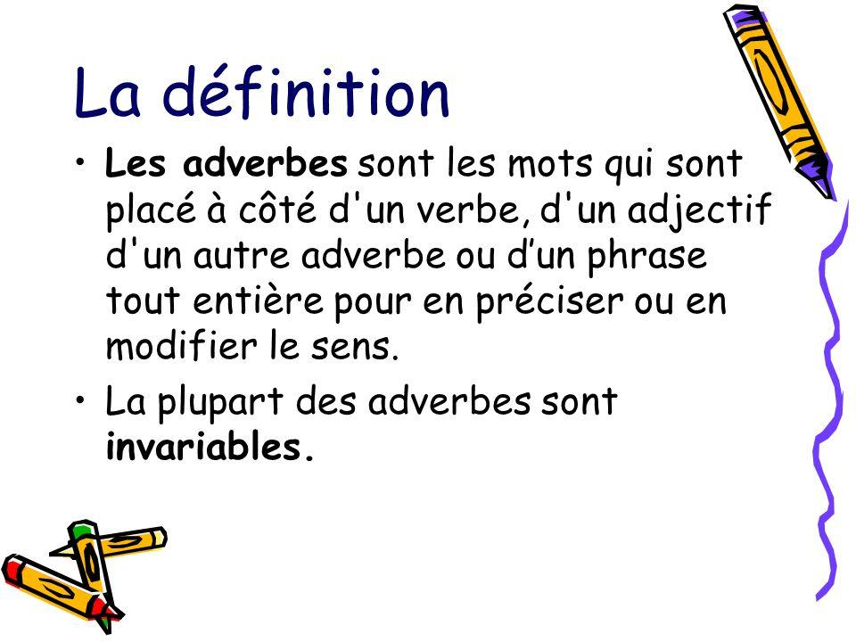 La définition