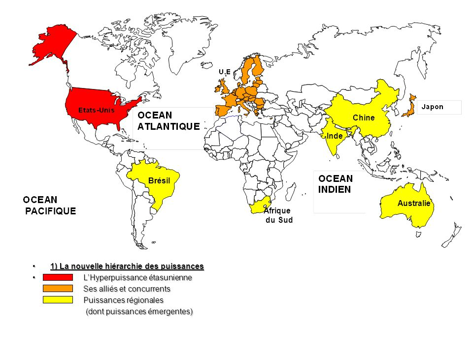 PACIFIQUE Chine Inde Brésil Australie Afrique du Sud
