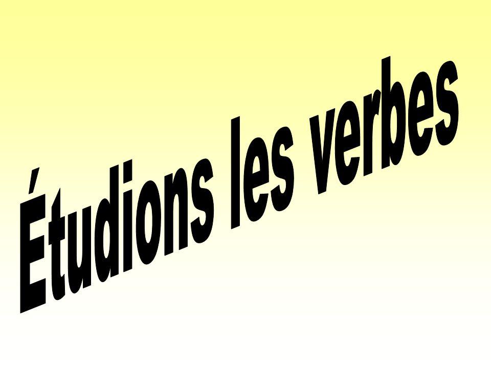 Étudions les verbes