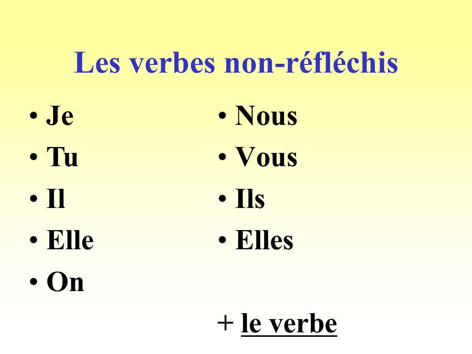 Les verbes non-réfléchis