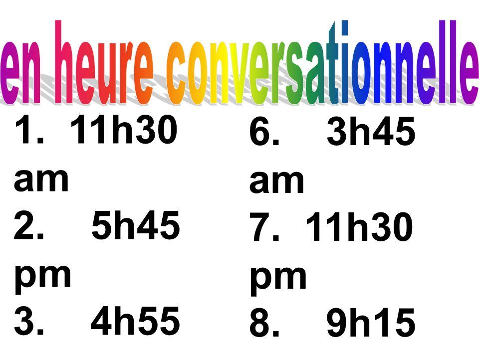 en heure conversationnelle