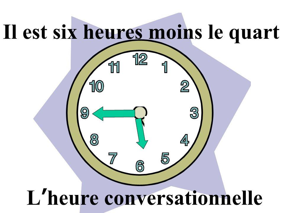 Il est six heures moins le quart