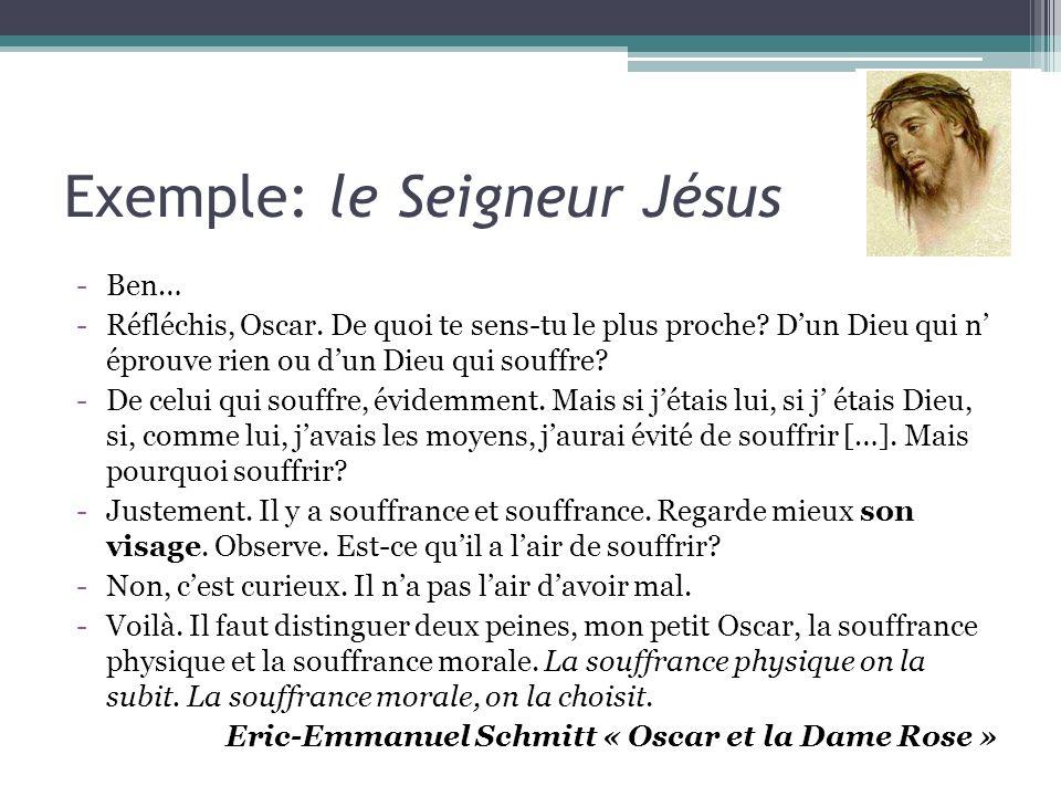 Exemple: le Seigneur Jésus