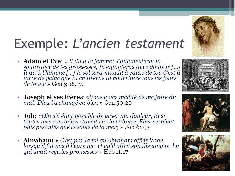 Exemple: L'ancien testament