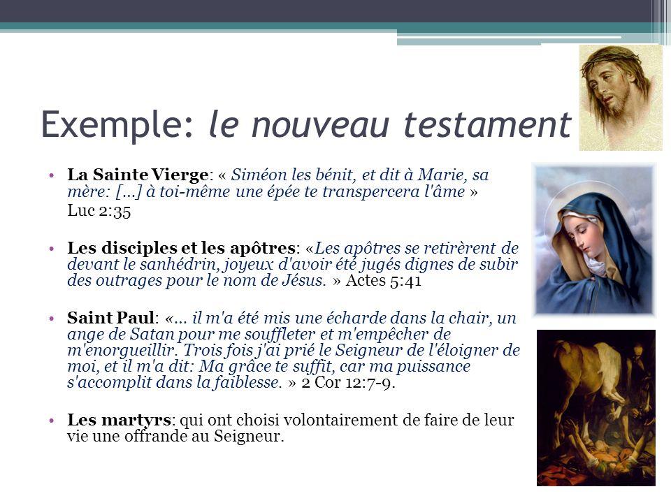 Exemple: le nouveau testament