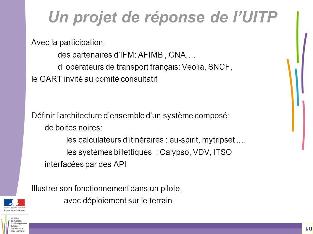 Un projet de réponse de l'UITP