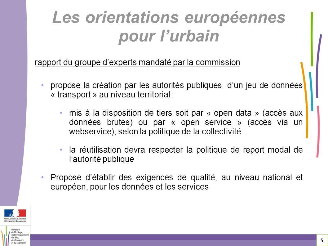 Les orientations européennes pour l'urbain