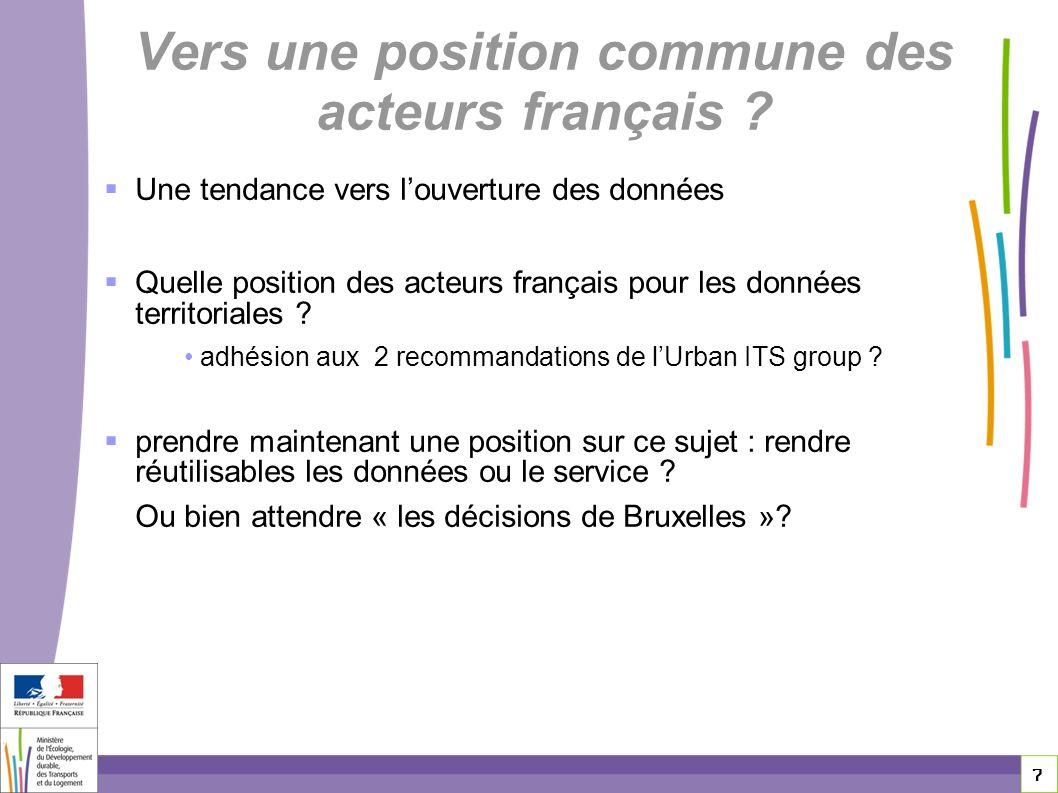 Vers une position commune des acteurs français
