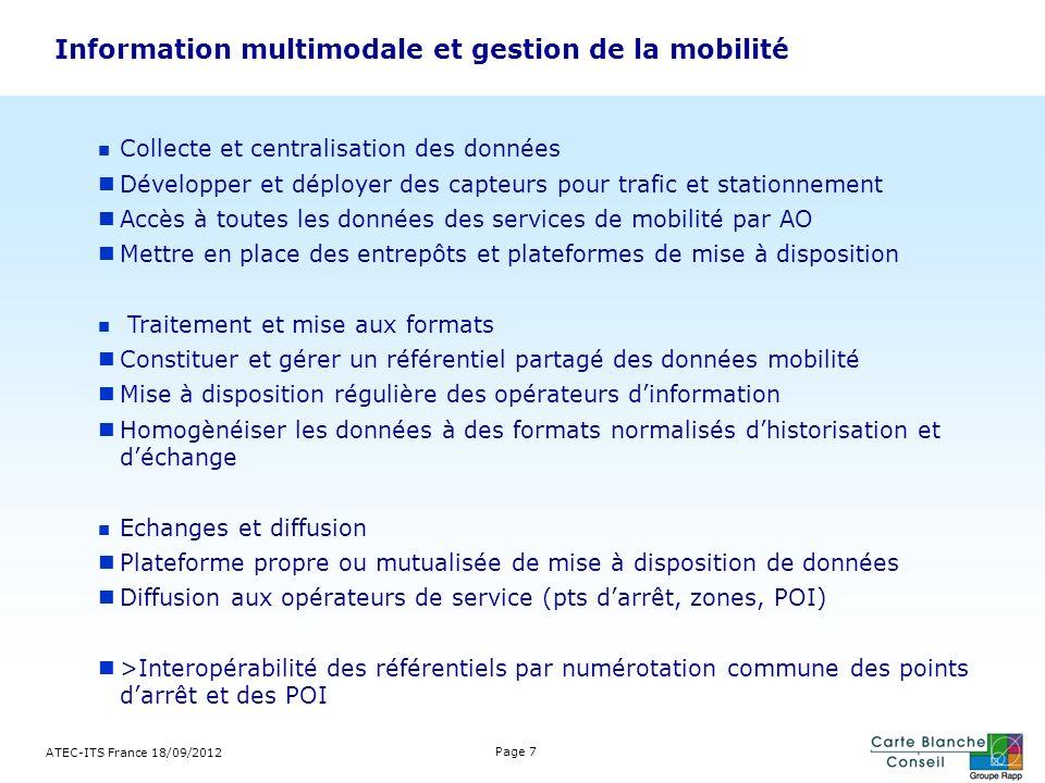 Information multimodale et gestion de la mobilité