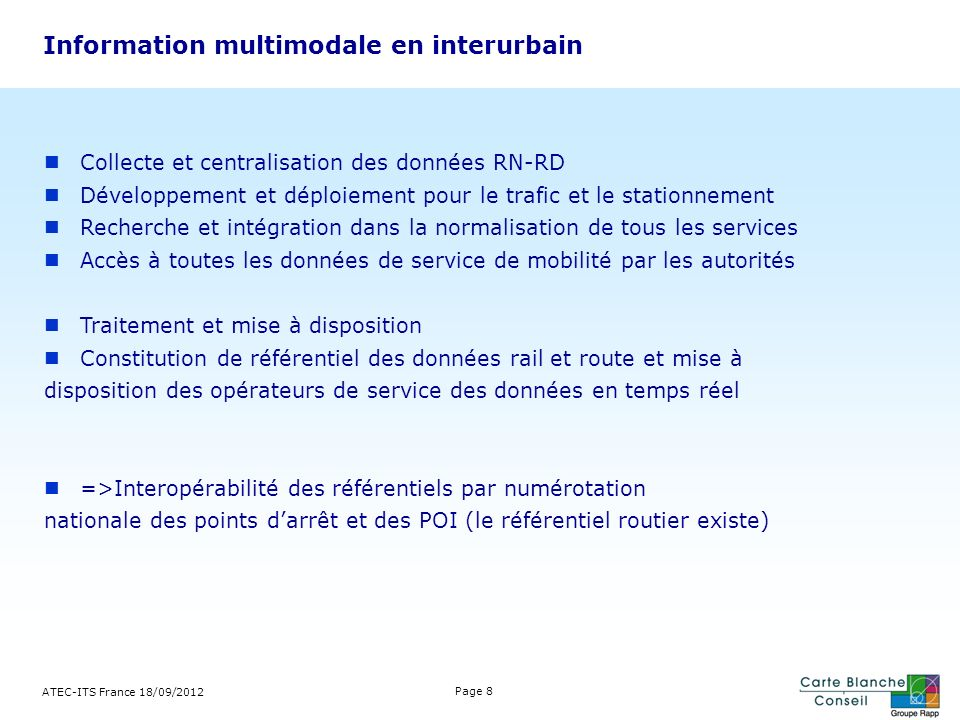 Information multimodale en interurbain