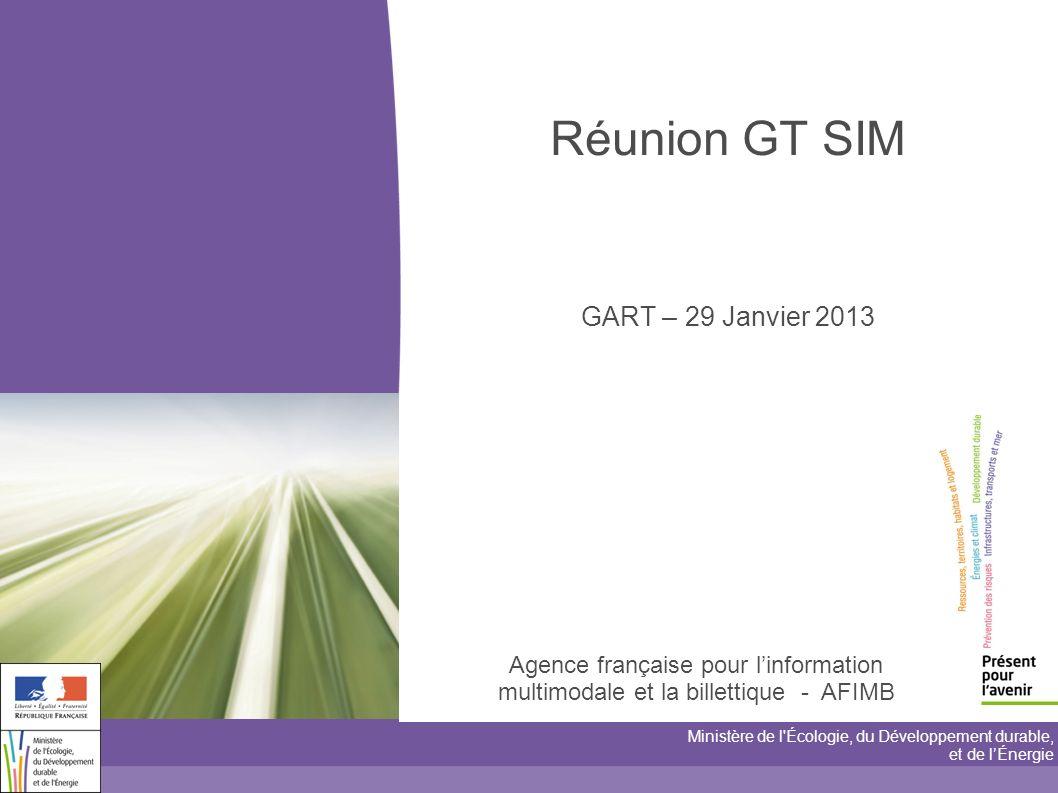 Réunion GT SIM GART – 29 Janvier 2013