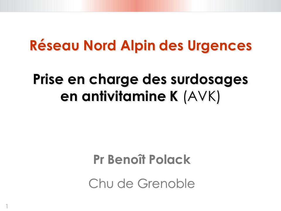 Réseau Nord Alpin des Urgences Prise en charge des surdosages en antivitamine K (AVK)