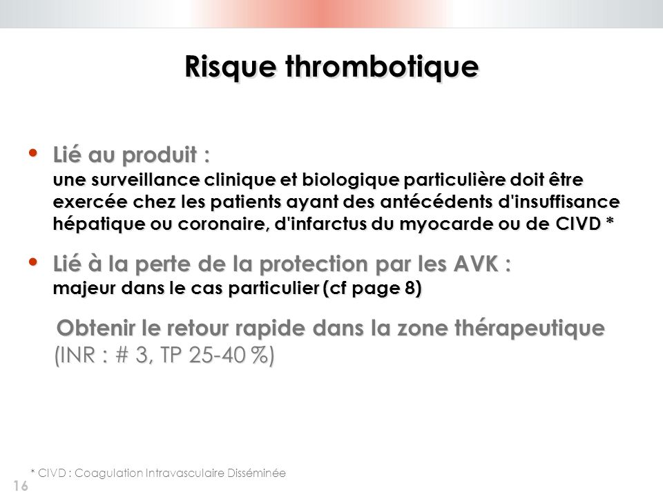 Risque thrombotique