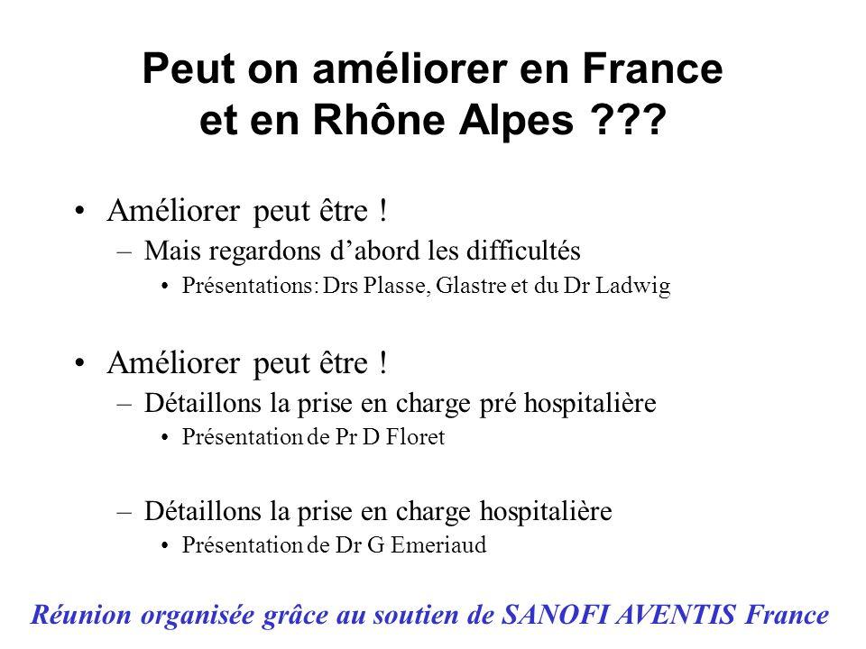 Peut on améliorer en France et en Rhône Alpes