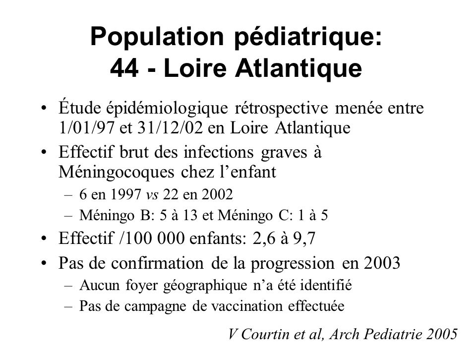 Population pédiatrique: 44 - Loire Atlantique