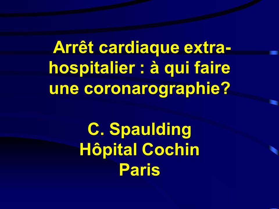 Arrêt cardiaque extra-hospitalier : à qui faire une coronarographie. C