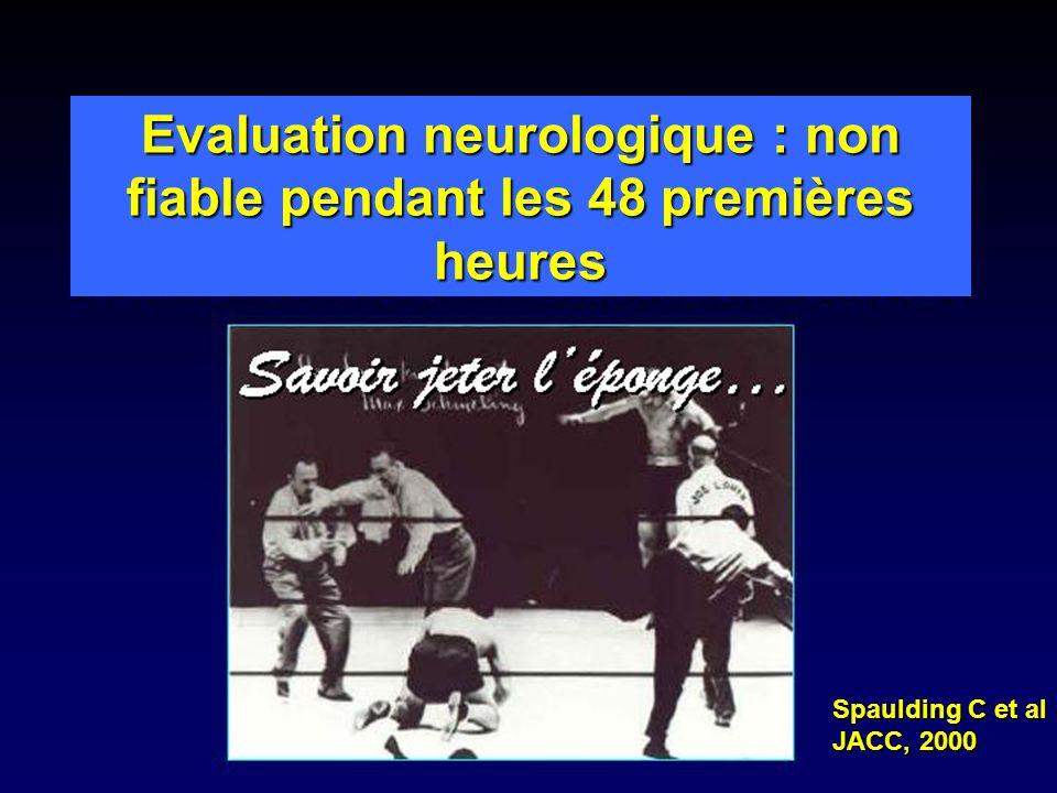 Evaluation neurologique : non fiable pendant les 48 premières heures