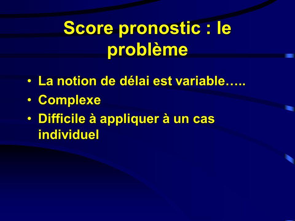 Score pronostic : le problème