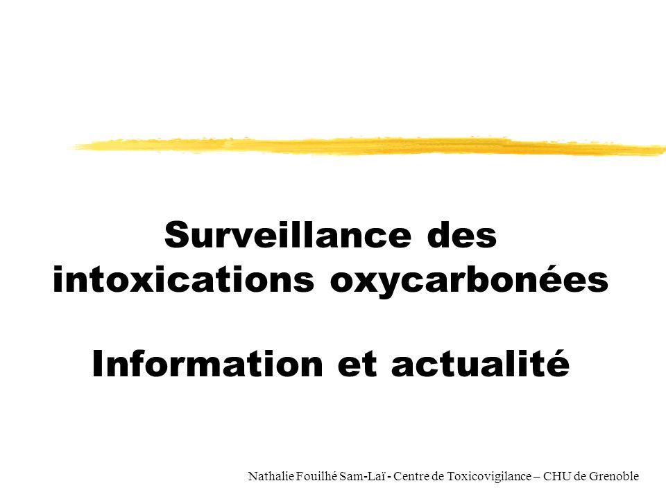 Surveillance des intoxications oxycarbonées Information et actualité