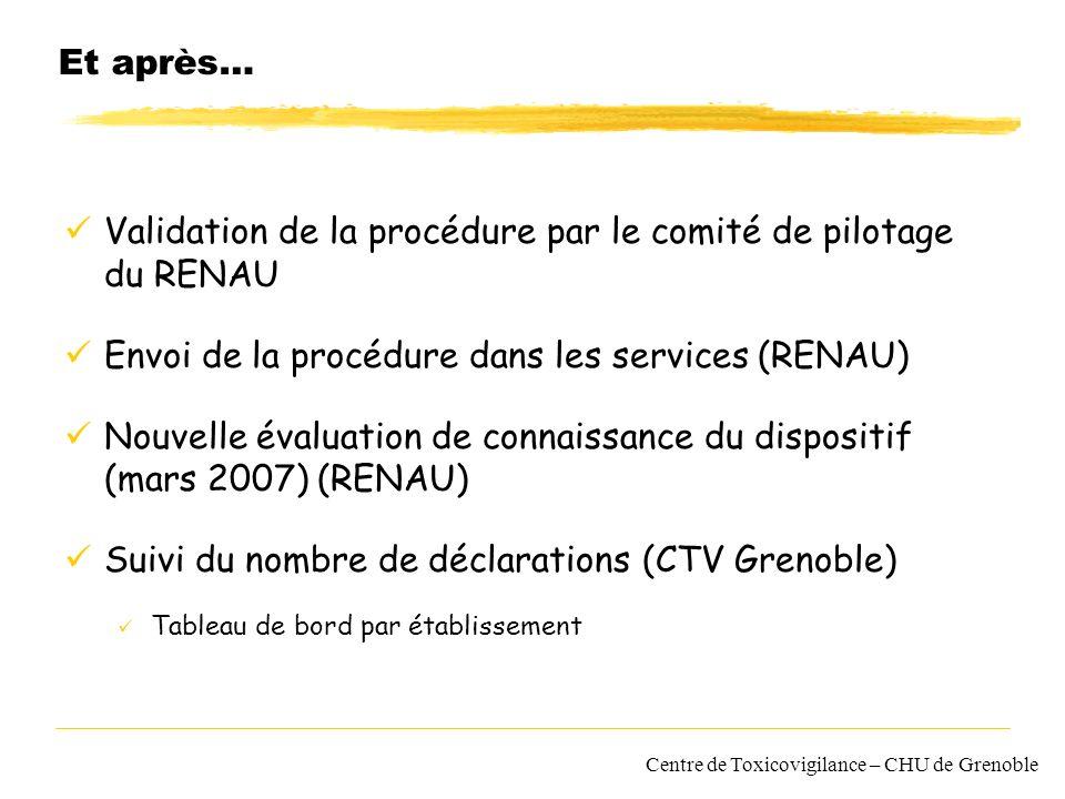 Validation de la procédure par le comité de pilotage du RENAU
