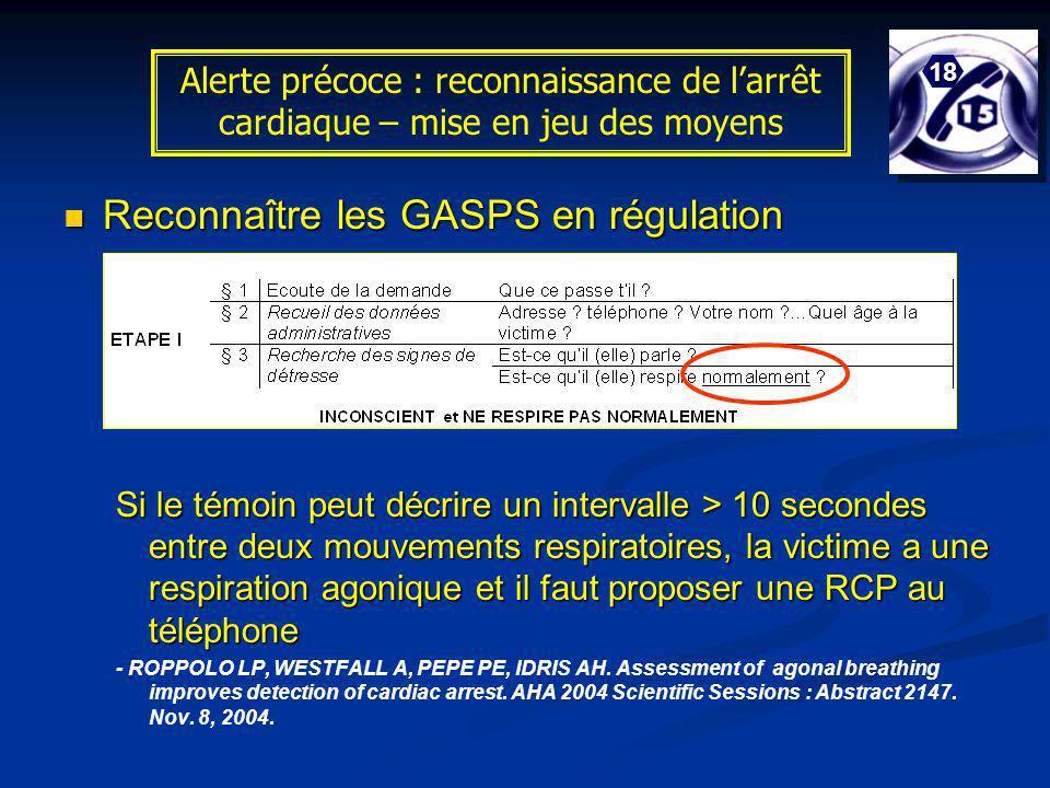 Reconnaître les GASPS en régulation
