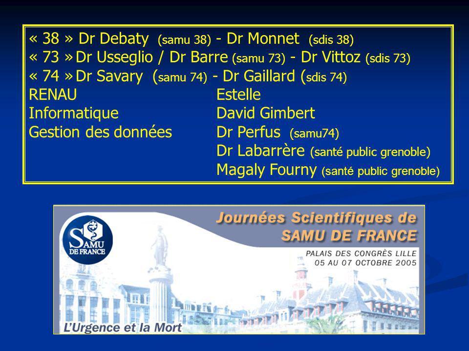« 38 » Dr Debaty (samu 38) - Dr Monnet (sdis 38)