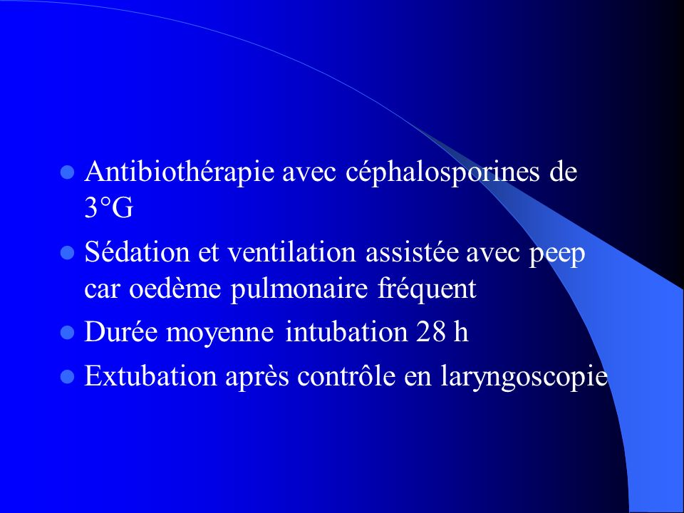 Antibiothérapie avec céphalosporines de 3°G