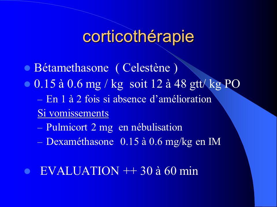corticothérapie Bétamethasone ( Celestène )