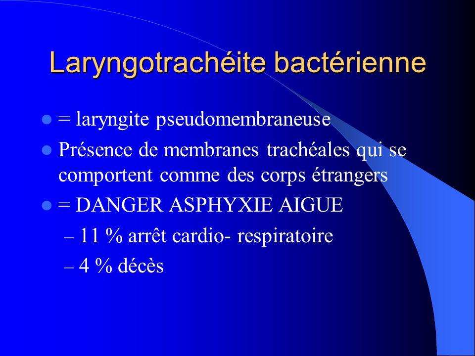Laryngotrachéite bactérienne