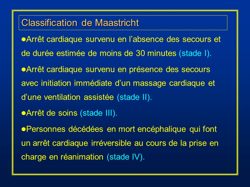 Classification de Maastricht