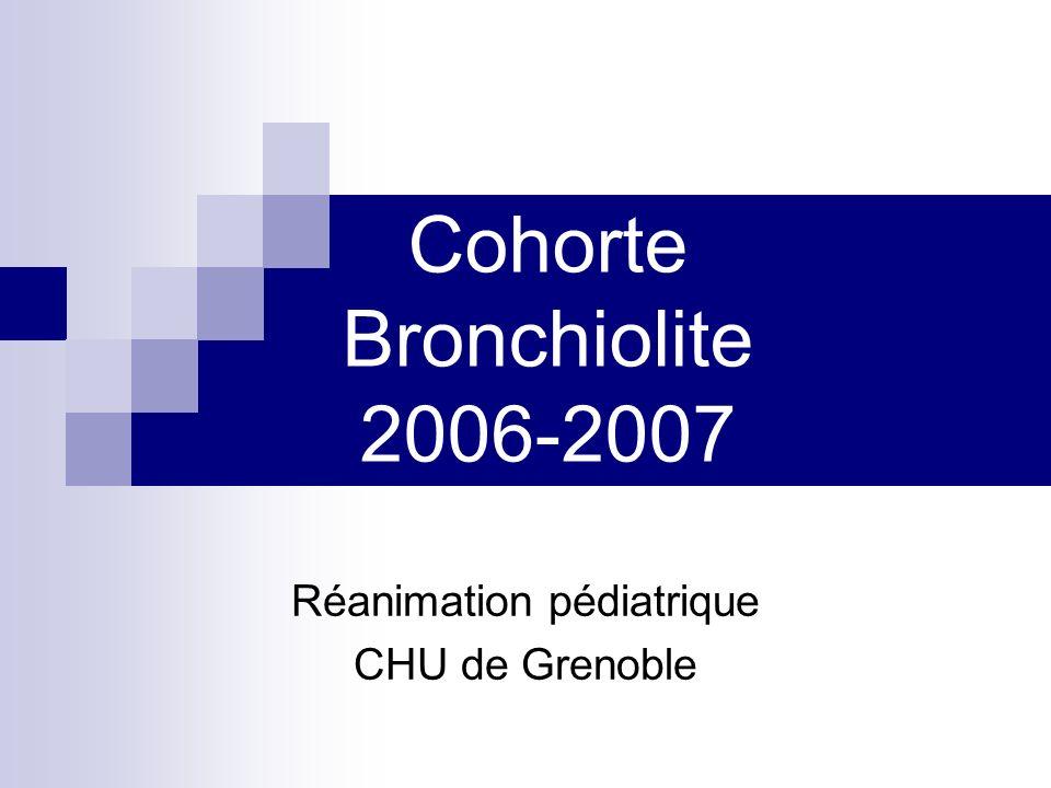 Cohorte Bronchiolite 2006-2007
