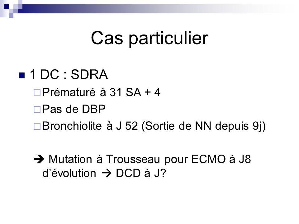 Cas particulier 1 DC : SDRA Prématuré à 31 SA + 4 Pas de DBP