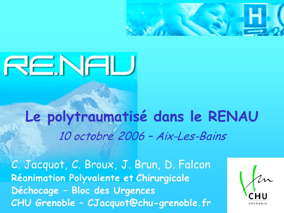 Le polytraumatisé dans le RENAU