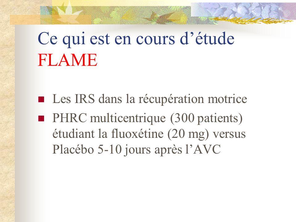 Ce qui est en cours d'étude FLAME