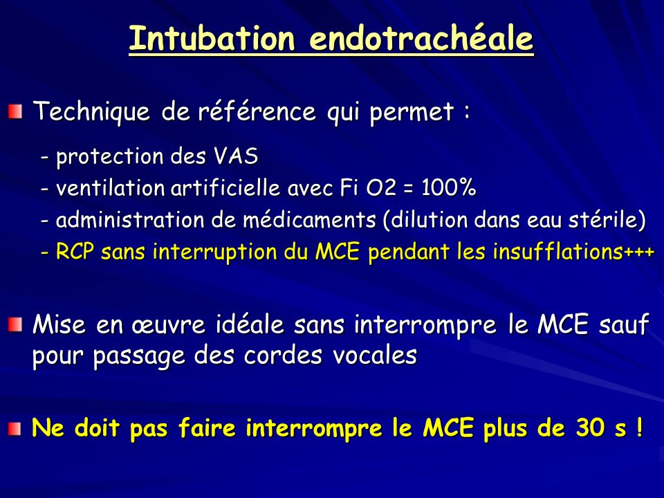 Intubation endotrachéale