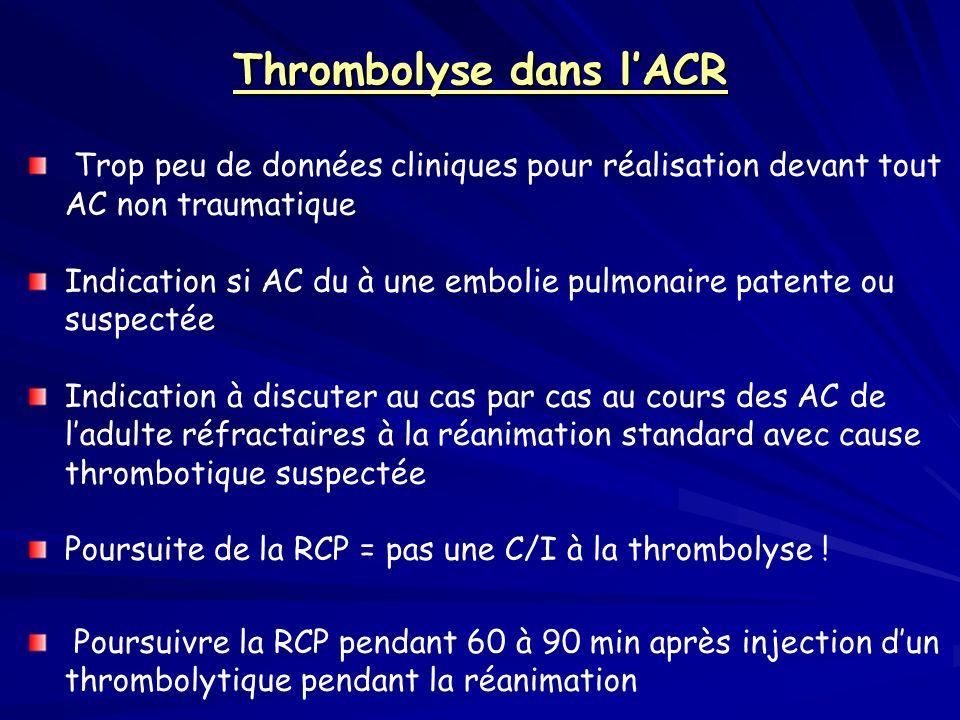 Thrombolyse dans l'ACR