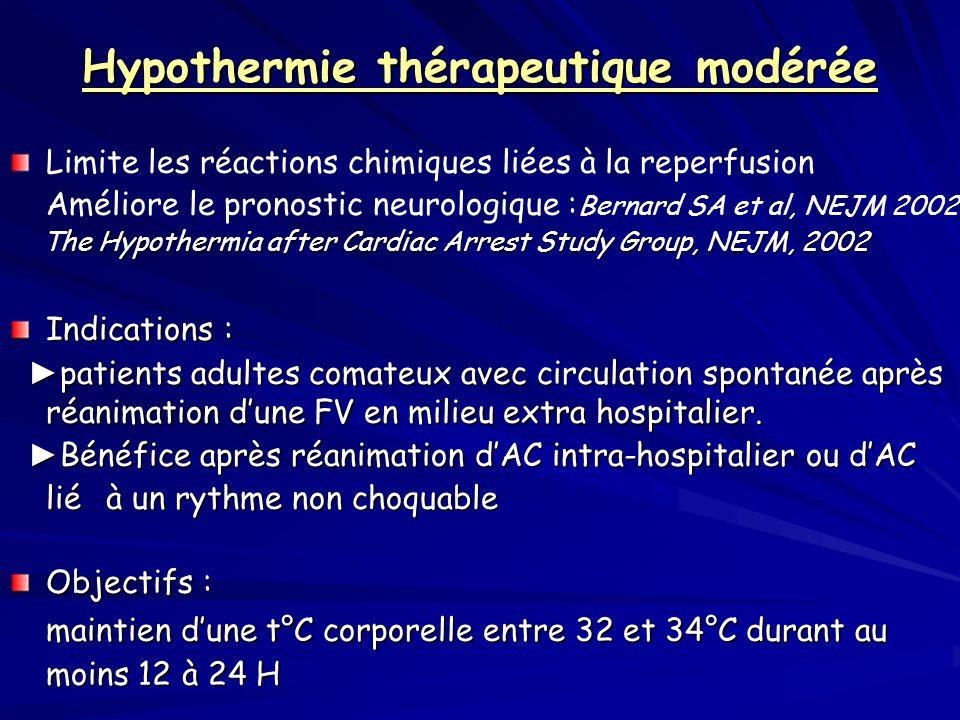 Hypothermie thérapeutique modérée