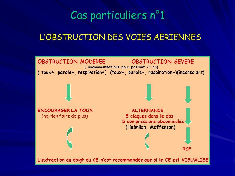 Cas particuliers n°1 L'OBSTRUCTION DES VOIES AERIENNES