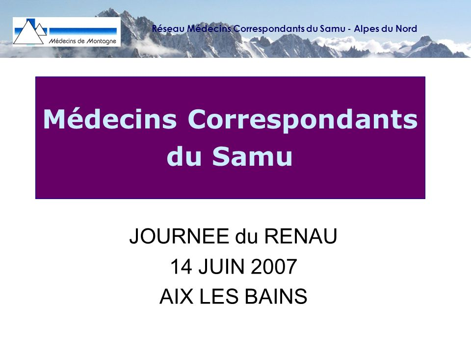 Médecins Correspondants du Samu