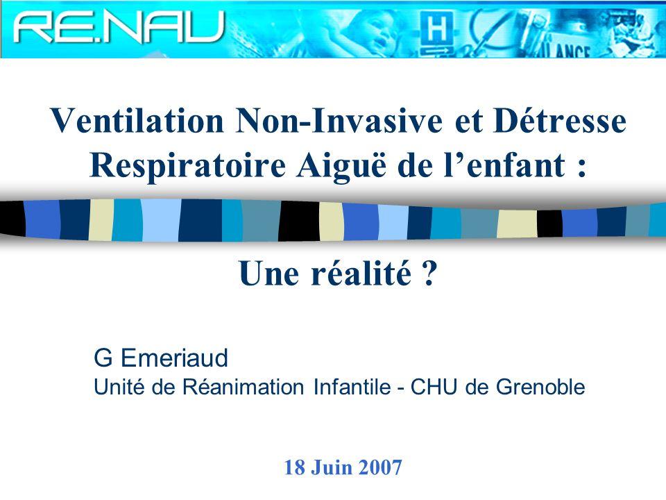 G Emeriaud Unité de Réanimation Infantile - CHU de Grenoble