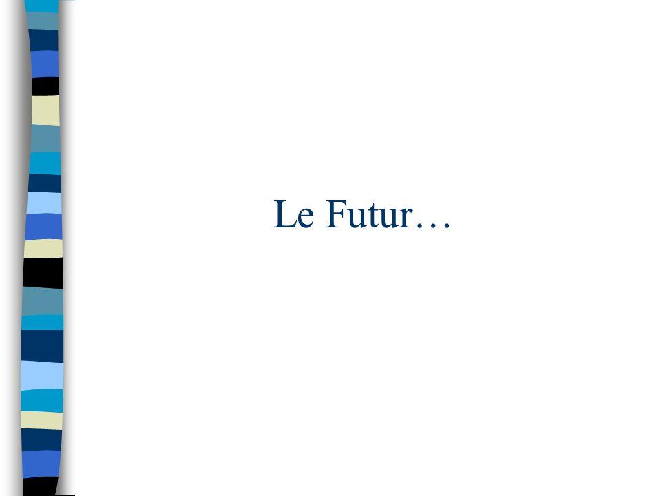 Le Futur…
