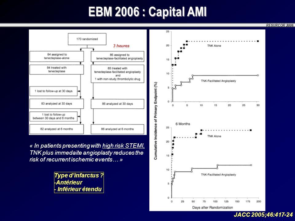 EBM 2006 : Capital AMI 3 heures.