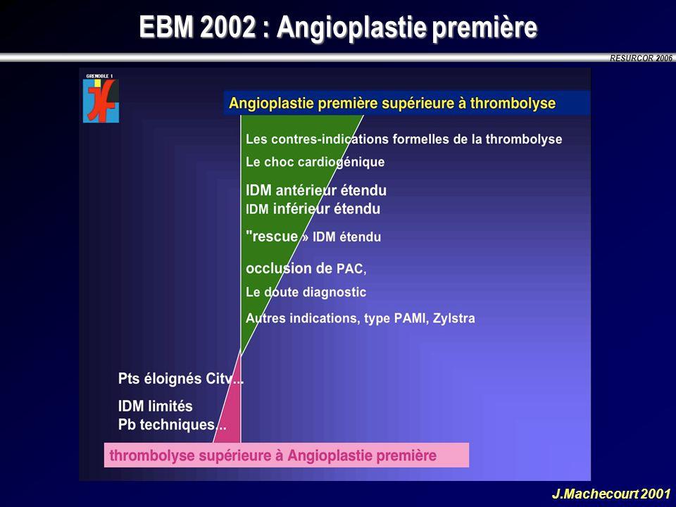 EBM 2002 : Angioplastie première