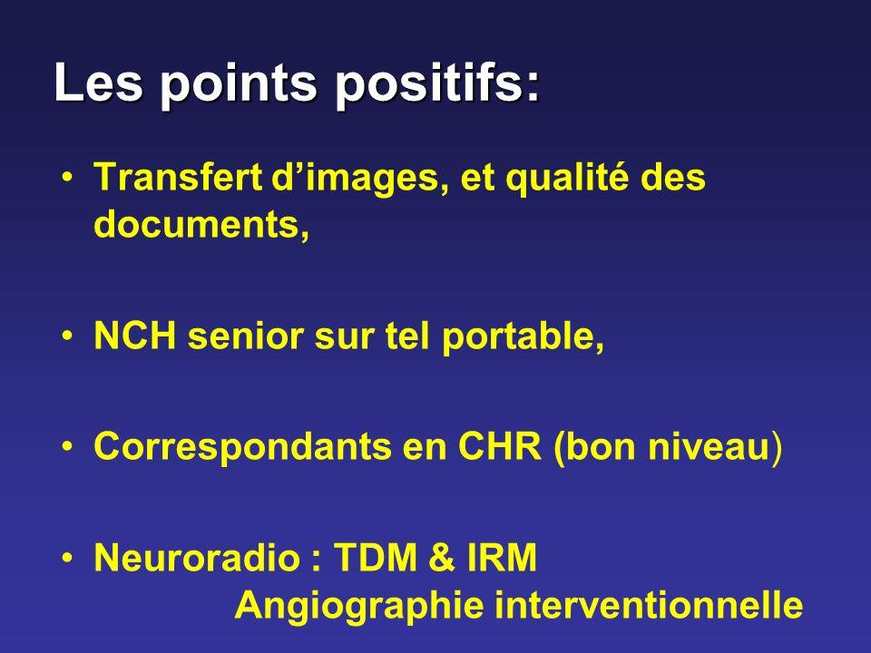 Les points positifs: Transfert d'images, et qualité des documents,