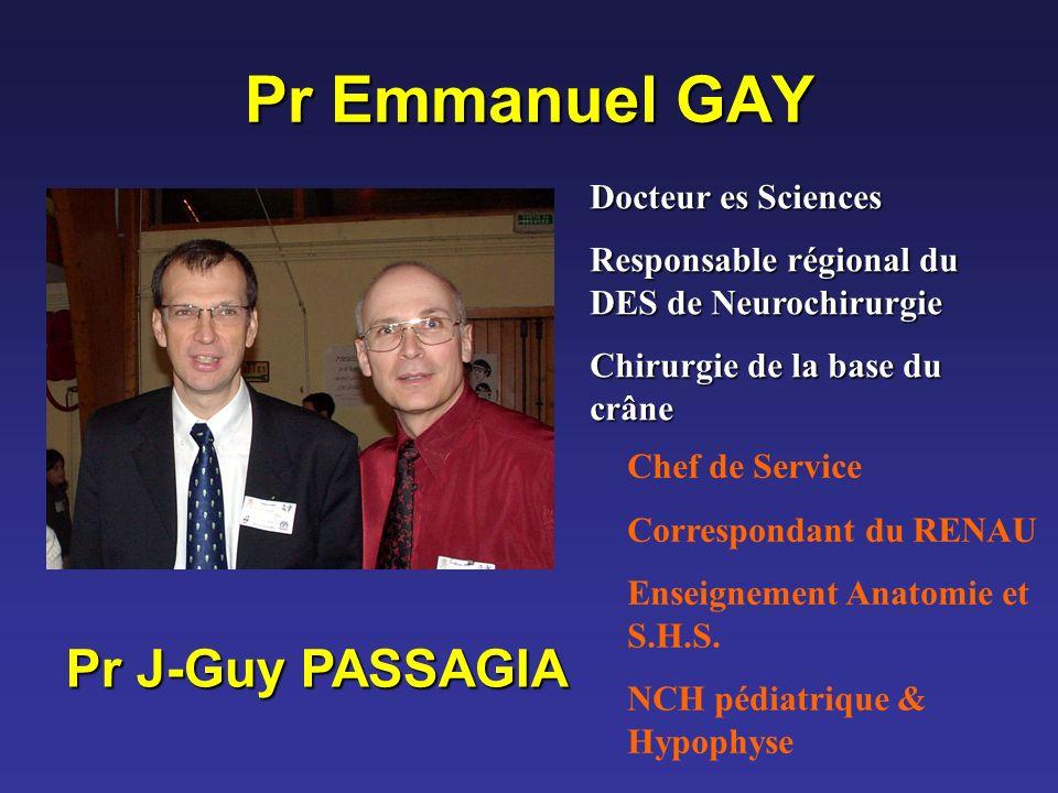 Pr Emmanuel GAY Pr J-Guy PASSAGIA Docteur es Sciences