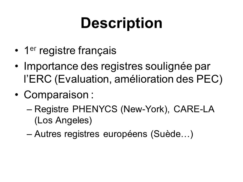 Description 1er registre français