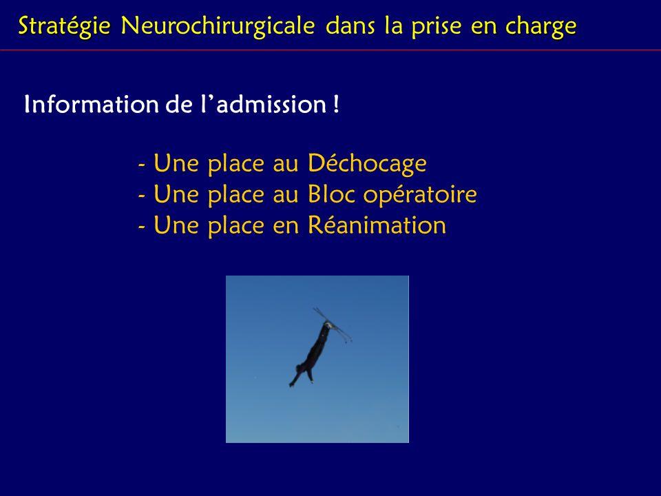 Stratégie Neurochirurgicale dans la prise en charge
