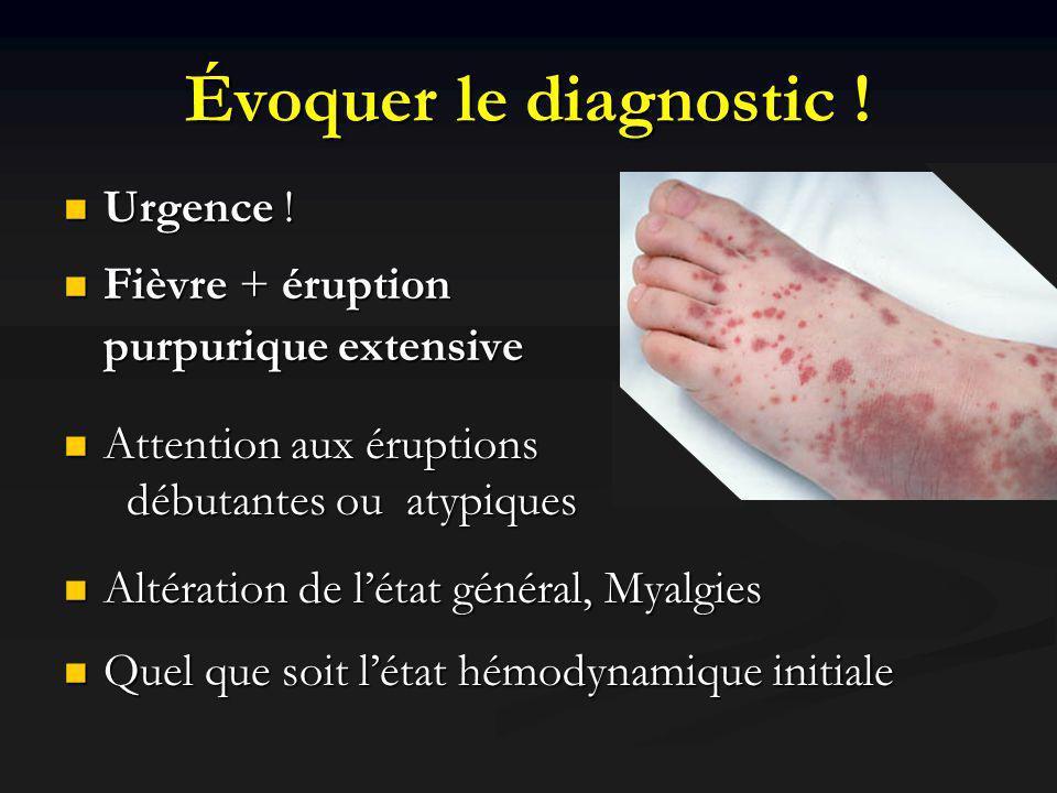 Évoquer le diagnostic ! Urgence !